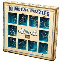 Набор головоломок 10 Metal Puzzles, синий