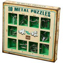 Набор головоломок 10 Metal Puzzles, зелёный