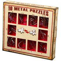 Набор головоломок 10 Metal Puzzles, красный