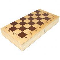 Шахматы гроссмейстерские пластмассовые в деревянной доске (430*210*55)