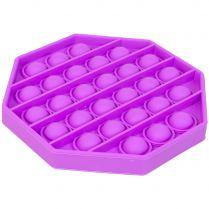 Игрушка-антистресс Pop It Восьмиугольник (фиолетовая)