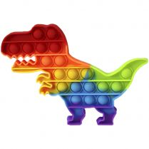 Игрушка-антистресс Pop It Динозавр (мультиколор)