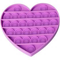 Игрушка-антистресс Pop It Сердце (фиолетовая)