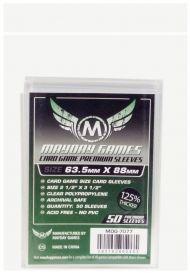 Протекторы Mayday (50 шт., 63,5x88 мм): премиум прозрачные