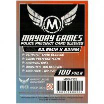 Протекторы Mayday (100 шт., 63,5x92 мм): стандарт прозрачные