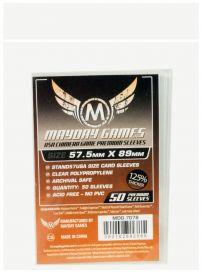 Протекторы Mayday (50 шт., 57,5x89 мм): премиум прозрачные