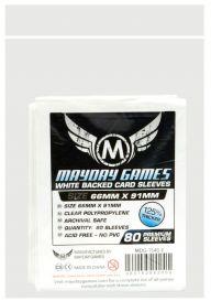 Протекторы Mayday (80 шт., 66x91 мм): стандарт белые