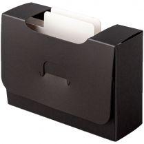 Картотека UniqCardFile Standart (30 мм, черная)