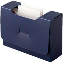 Картотека UniqCardFile Standart (30 мм, синяя)