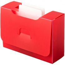 Картотека UniqCardFile Standart (30 мм, красная)