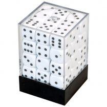 Набор кубиков D6. Белые 12 мм. (36 шт.)