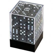 Набор кубиков D6. Чёрные 12 мм. (36 шт.)