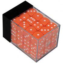 Набор кубиков D6. Оранжевые 12 мм. (36 шт.)