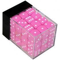 Набор кубиков D6. Розовые 12 мм. (36 шт.)