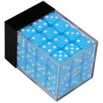 Набор кубиков D6. Голубые 12 мм. (36 шт.)