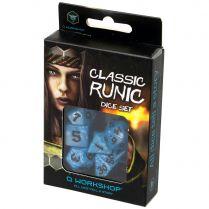 Набор кубиков Classic Runic, 7 шт., Glacier/Black