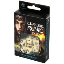 Набор кубиков Classic Runic, 7 шт., Beige/Blue