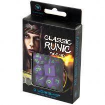 Набор кубиков Classic Runic, 7 шт., Purple/Green
