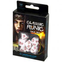 Набор кубиков Classic Runic, 7 шт., White/Red