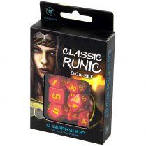 Набор кубиков Classic Runic, 7 шт., Red/Yellow