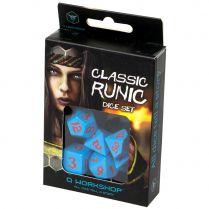 Набор кубиков Classic Runic, 7 шт., Blue/Red