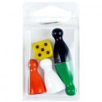 Набор фишки и кубик, малый, цвета в ассортименте