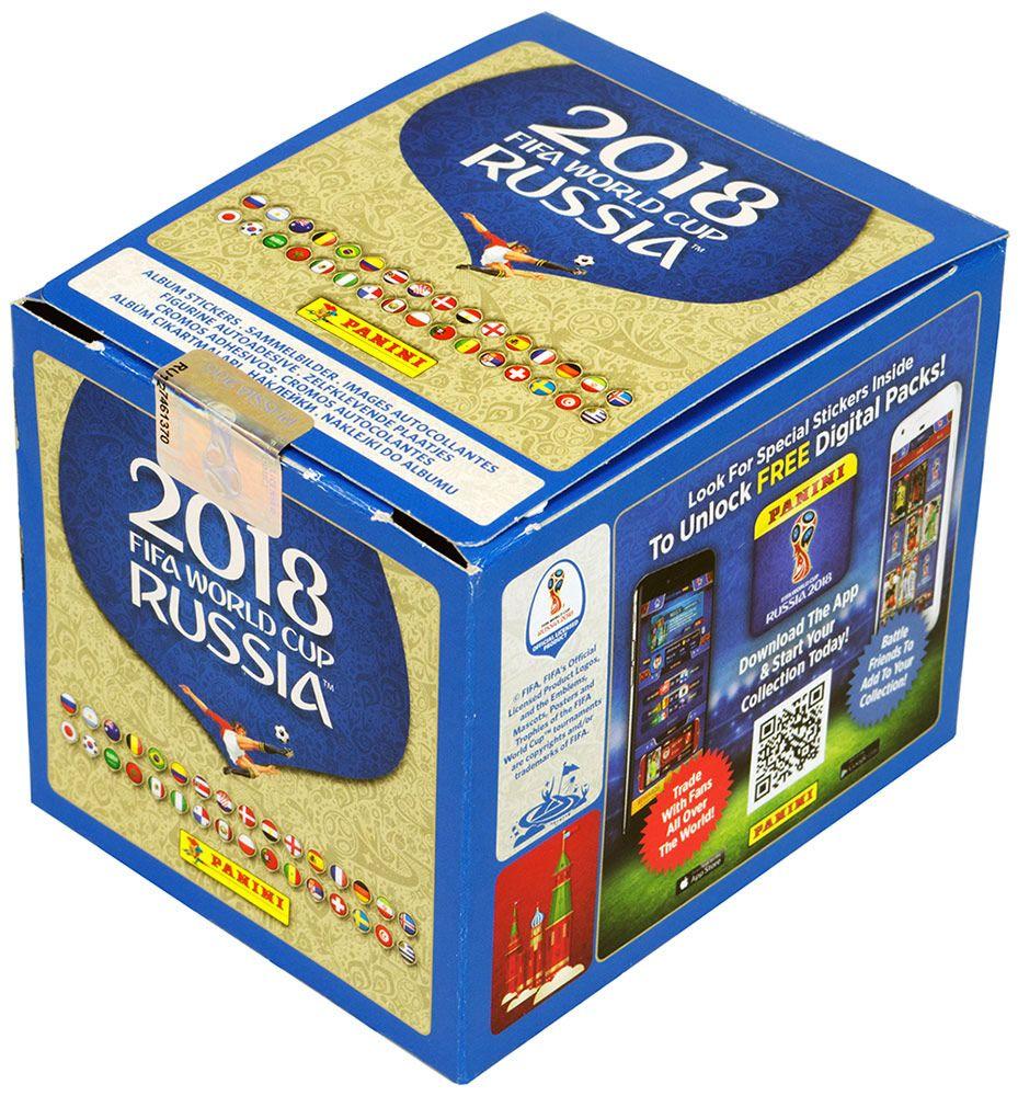 Купить Бокс наклеек Чемпионат мира по футболу FIFA 2018 (50 пакетиков), Настольная игра Panini Collections