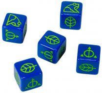 Ashes: Blue Natural Dice (5x)