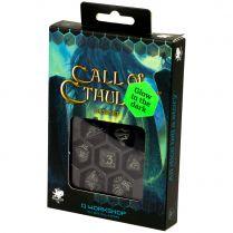 Набор кубиков Call of Cthulhu, 7 шт., Dice Black & glow-in-the-dark