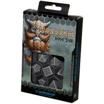 Набор кубиков Dwarven, 7 шт., Gray & black