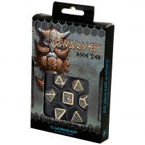 Набор кубиков Dwarven, 7 шт., Beige & black