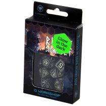 Набор кубиков Runic, 7 шт., Black & glow-in-the-dark