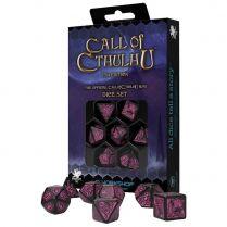Набор кубиков Call of Cthulhu 7th Edition, 7 шт., Black & magenta