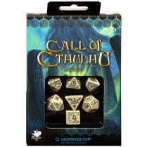 Набор кубиков Call of Cthulhu, 7 шт., Beige/Black