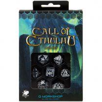 Набор кубиков Call of Cthulhu, 7 шт., Abyssal & white