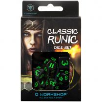 Набор кубиков Classic Runic, 7 шт., Black/Green