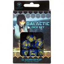 Набор кубиков Galactic, 7 шт., Navy/Yellow