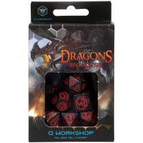 Набор кубиков Dragons, 7 шт., Black/Red