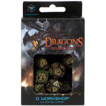 Набор кубиков Dragons, 7 шт., Bottle green/Gold