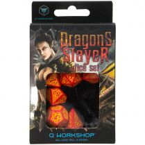 Набор кубиков Dragon Slayer, 7 шт., Red/Orange