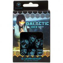 Набор кубиков Galactic, 7 шт., Black/Blue