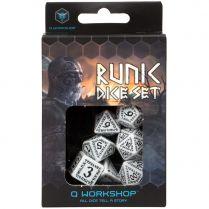 Набор кубиков Runic, 7 шт., White\Black
