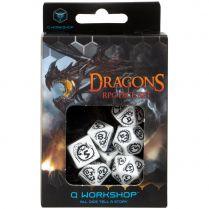 Набор кубиков Dragons, 7 шт., White/Black