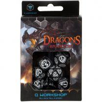 Набор кубиков Dragons, 7 шт., Black/White