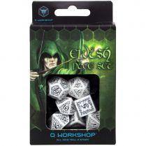 Набор кубиков Elvish, 7 шт., White/Black