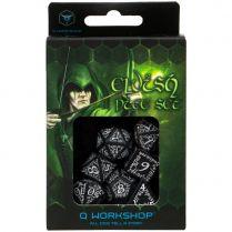 Набор кубиков Elvish, 7 шт., Black\White