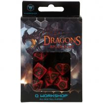 Набор кубиков Dragons, 7 шт., Red/Black