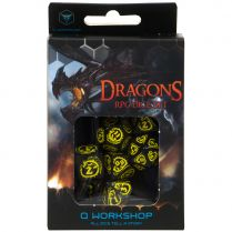 Набор кубиков Dragons, 7 шт., Black/Yellow