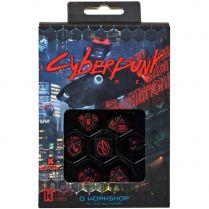 Набор кубиков Cyberpunk, 7 шт., Red