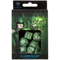 Набор кубиков Elvish, 7 шт., Green & white